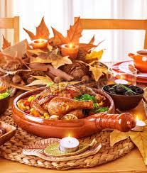 festive dinner at home thanksgiving day celebration backed
