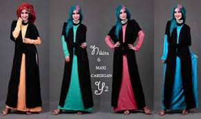 10 contoh desain baju muslim wanita masa kini oke