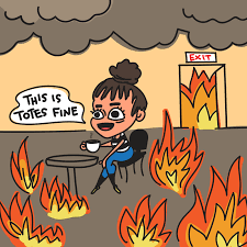 Everything Is Fine Meme - this is fine on fire gif by denyse find share on giphy