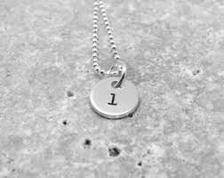 pendant l with chain letter l necklace etsy