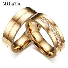 wedding bands for couples milatu fashion wedding bands for couples gold color stainless