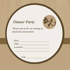 Sample Party Invitation Card Perfect Dinner Party Invitation Card Appelaing Dinner Party