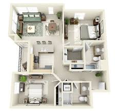 wonderful two bedroom apartment plan in home decoration planner