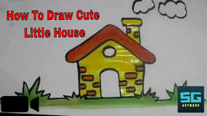 cute little house how to draw a cute little house how to draw pretty house youtube