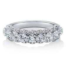 half eternity ring sterling silver cubic zirconia cz stackable half eternity ring r863