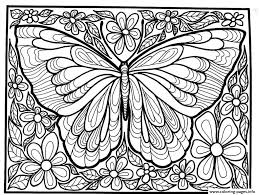printable coloring pages flowers adult difficult big butterfly coloring pages printable