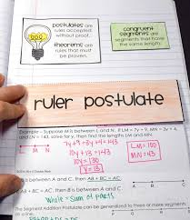 ruler and segment addition postulate foldable maths teaching
