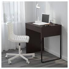 small black writing desk micke desk black brown ikea
