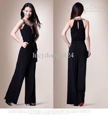 evening jumpsuits for weddings wholesale sale slim noble black jumpsuits with beaded