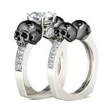 skull wedding ring sets skeleton wedding rings engaget skull wedding bands sets slidescan