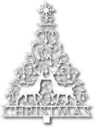 tutti designs cutting die viney christmas tree 12 99