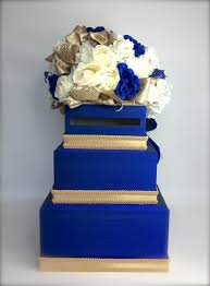 wedding box wedding card box royal blue hawaiian gold and diamond wed secure