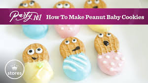 peanut baby shower how to make peanut butter baby cookies party 101