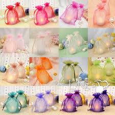 candy bags gift bags organza wedding party favor decoration gift candy sheer
