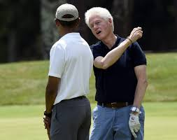 obama and the clintons political couples mingle as they vacation