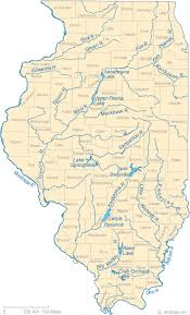 of illinois map map of illinois lakes streams and rivers