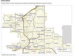 Atlanta Neighborhood Map by Atlanta Communities Atlanta Communities