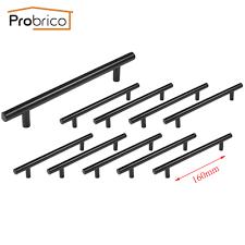 kitchen cabinet bar handles probrico 10 pcs black stainless steel kitchen cabinet t bar handle