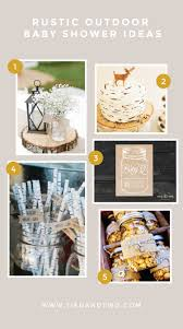 Baby Shower Outdoor Ideas - rustic outdoor baby shower ideas tied u0026 two