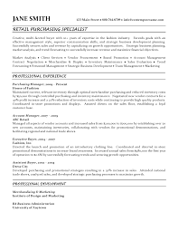 sample resumes for business analyst purchasing specialist resume