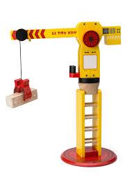 le toy van the big wooden crane tv449 29 99