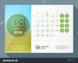 Desk Calendar Design Ideas Unique Desktop Calendar 2016 2017 O With Design Ideas
