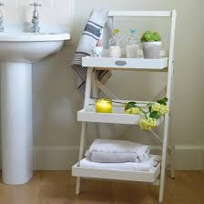 Bathroom Ladder Shelves Cottage Bathroom Look Add This Bathroom Ladder Shelf Homesfeed