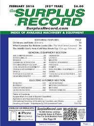february 2016 surplus record machinery u0026 equipment directory