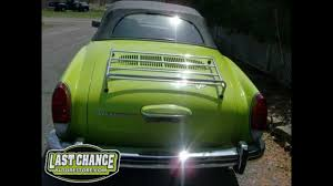 karmann ghia green classic vw karmann ghia convertible 1973 youtube