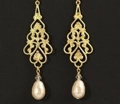 and pearl chandelier earrings big gold pearl earrings weddingbee