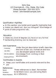 bartending resume exle best of exle of bartender resume bartender bartender resume