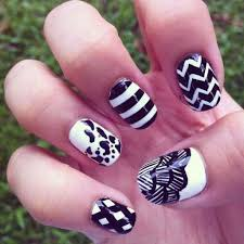 55 most amazing black and white nail art design ideas