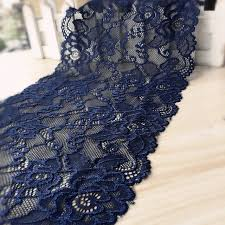 navy blue lace ribbon aliexpress buy 5 yard lot navy blue elastic lace trim