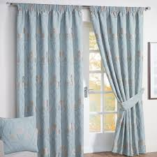 Floral Lined Curtains Give Your Home The New Look Using The Evergreen Blue Curtains