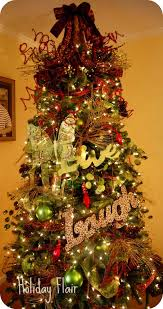 decorated christmas trees with mesh u ribbon how to decorate a