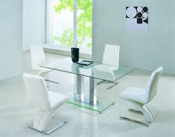 rectangle glass kitchen table rectangle glass dining table plus white leather chair with unique