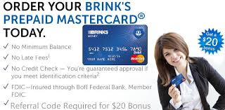 prepaid mastercard brink s 20 debit card bonus