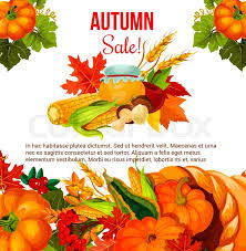 autumn season sale offer poster for thanksgiving day fall