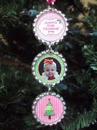 baby u0027s first christmas ornament 2012 bottlecap christmas