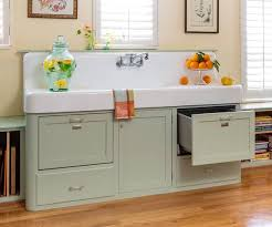 Retro Kitchen Hutch Retro Kitchen Redo Apron Sink Vintage Apron And Custom Cabinets