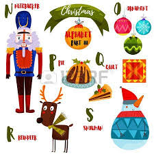 awesome christmas alphabet in vector part i a lot of holiday