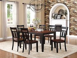 homelegance westport dining set two tone black cherry 5079bk 66