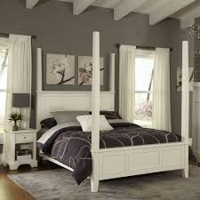 king poster bedroom set home styles naples white king poster bed 5530 620 the home depot