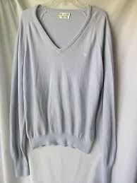 christian dior mens v neck light blue soft sweater 100 orlon