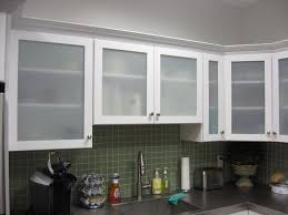 Kitchen With Glass Cabinet Doors Frosted Glass Kitchen Cabinet Doors Interiorvues
