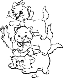 three kids disney the aristocats coloring page wecoloringpage