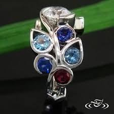 mothers ring 6 stones my custom jewelry design at green lake jewelry works