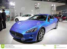 maserati blue blue maserati car editorial stock photo image 55965828