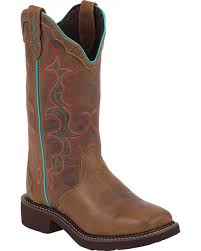 womens square toe boots size 12 s justin boots boot barn