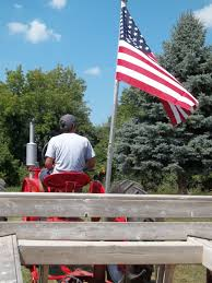 Mi Flag Tractor Ride At Heritage Village In Sidney Mi Smithsonian Photo